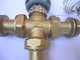 """Термостатический 3-ходовой зонный клапан с функцией разделения и смешения потока (1"""")+термоголовка с датчиком, фото 5"""