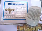 """Термостатический 3-ходовой зонный клапан с функцией разделения и смешения потока (1"""")+термоголовка с датчиком, фото 7"""