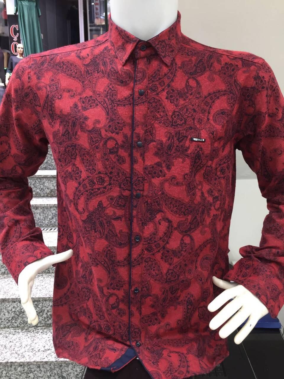 Теплая кашемировая батальная рубашка Paul Jack