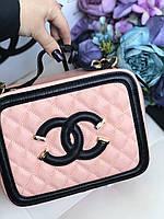 Эффектная сумочка Chanel vanity натуральная кожа (реплика), фото 1