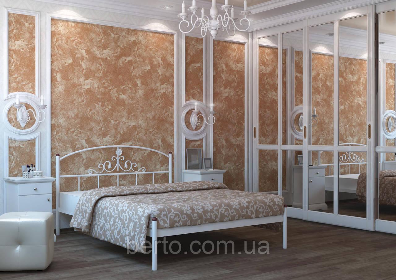Кровать двуспальня металлическая Кссандра 160