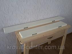 Настінна полиця з прихованим кріпленням дерев'яна від виробника (слонова кістка), фото 2