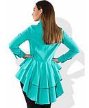 Рубашка бирюзовая бэби-долл со шлейфом размеры от XL 3143, фото 2