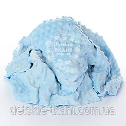 Плюш Minky лоскуты для рукоделия небесно-голубого цвета, 0.5 кг