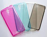 Ультратонкая накладка для телефона PU 0,3 mm Samsung GalaxyS4 Голубой