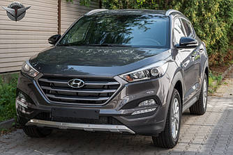 Обвіс Hyundai Tucson TL (15-18) тюнінг накладки на бампера (нержавійка)