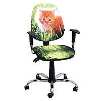 Компьютерное  Кресло Бридж Хром Дизайн №11 Котенок