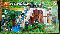 Конструктор Lele 33052 Minecraft Майнкрафт База на водопаде 744 детали, фото 1
