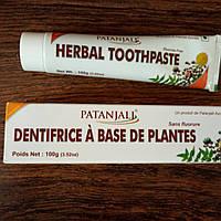 Зубная паста Травяная без фтора Патанджали, Herbal Toothpaste Patanjali, 100 г, фото 1