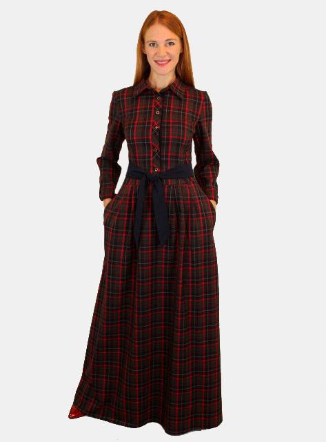 Теплое платье с длинным рукавом 46 р