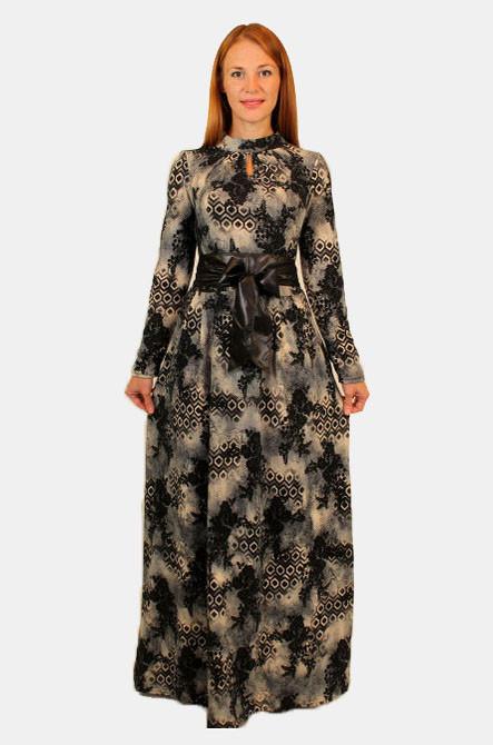 Длинное зимнее платье 44-46-48 р