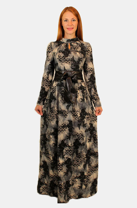 7a1c3b16585 Длинное зимнее платье 44-48 р - Оптовый интернет-магазин по продаже женской  одежды