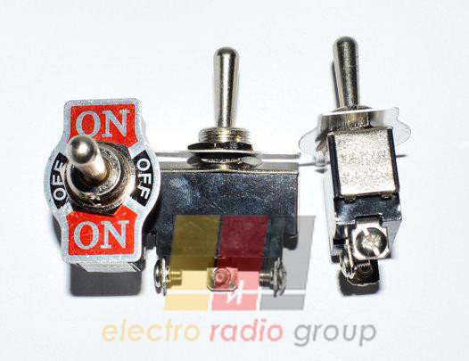 Тумблер KN3(B)-202 (ON-ON), 6pin, 6A 250VAC