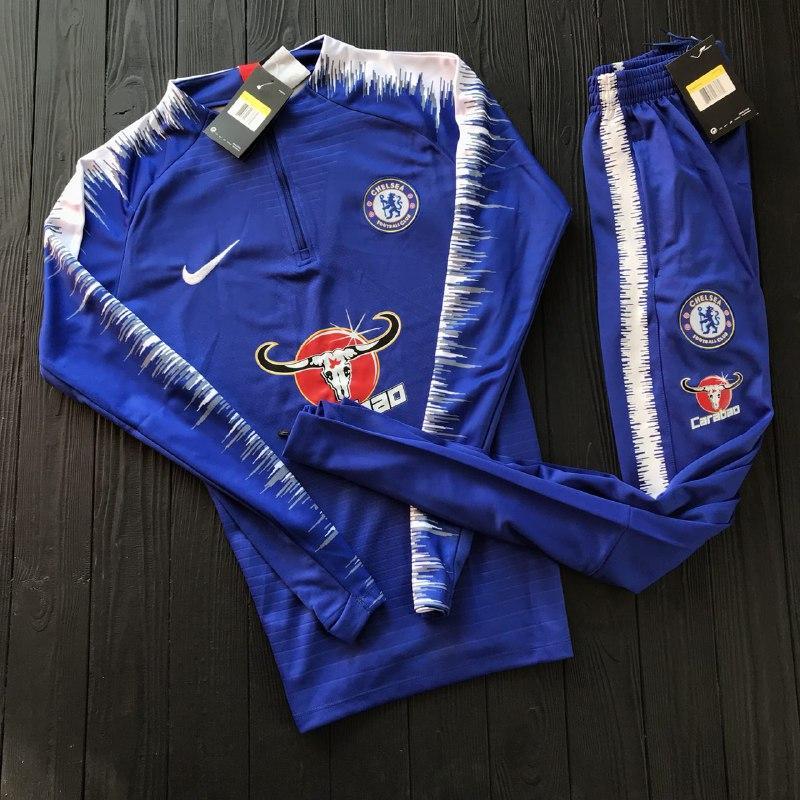 Спортивный (тренировочный ) костюм Челси (Chelsea ) 201-2019 сезона - Sport  Exclusive 5f185016d5a