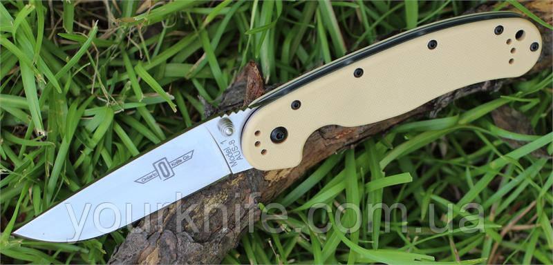 Нож складной Ontario Rat Folder 1 Desert Tan