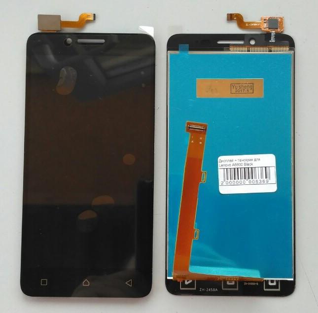 Дисплей для Lenovo A6600 (2016) с тачскрином черный Оригинал