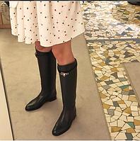 """Сапоги зимние женские брендовые """"Гермес"""" (натуральная кожа) черные размер 36-40"""