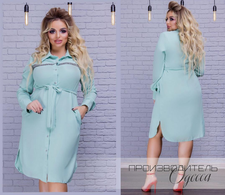 72876594ad9 Платье-рубашка осень-зима в большом размере недорого в интернет-магазине (  размеры 48-56 )