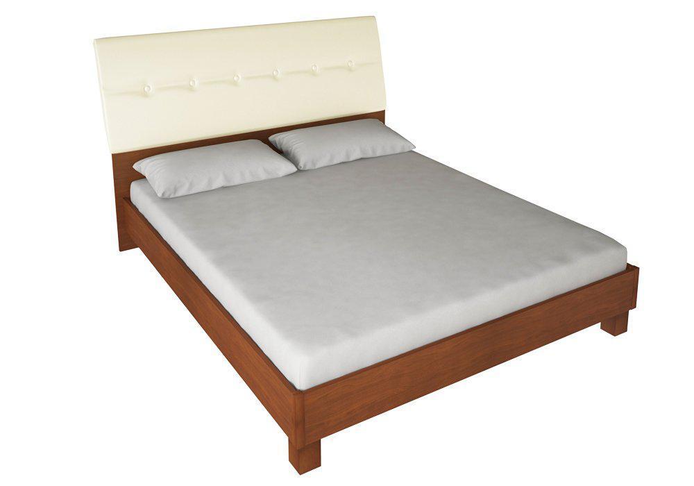 Кровать Виола 160х200 мягкая спинка с каркасом Миро-Марк