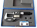 Мікрометр цифровий KM-2133-25 / 0.001 (0-25 мм) у водозащищенном металевому корпусі IP 65, фото 5