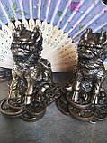 Фігурки з полімерів під бронзу Цилінь на монетах, фото 2