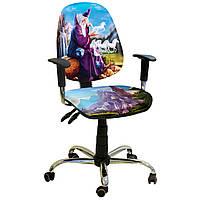 Компьютерное  Кресло Бридж Хром Дизайн №12 Волшебник