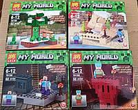 Конструктор Lele 79159 Minecraft Майнкрафт Четыре вида, фото 1
