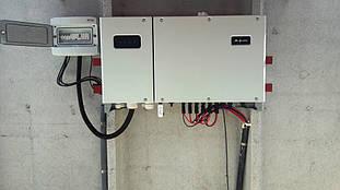 """Солнечный инвертор """"Хуавей"""" и шкаф защиты для электростанции."""