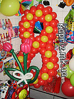 Цифра 8 к  весеннему празднику с цветами, фото 1