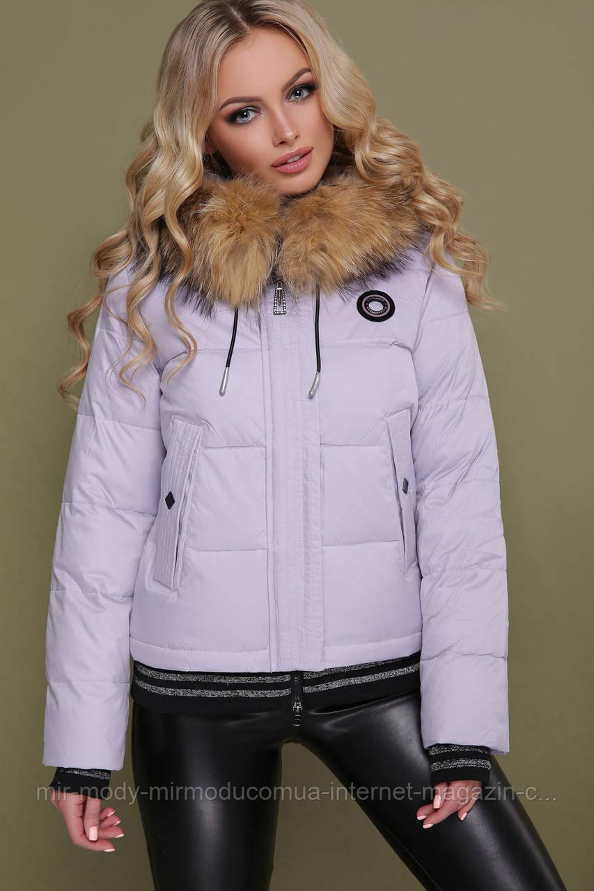 Куртка 18-132. Цвет: фиолетовый ЗИМА размеры (46-56)  (гм)