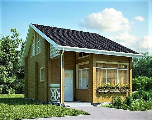 Дом из профилированного бруса 8х6 м