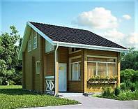 Дом из профилированного бруса 8х6 м , фото 1