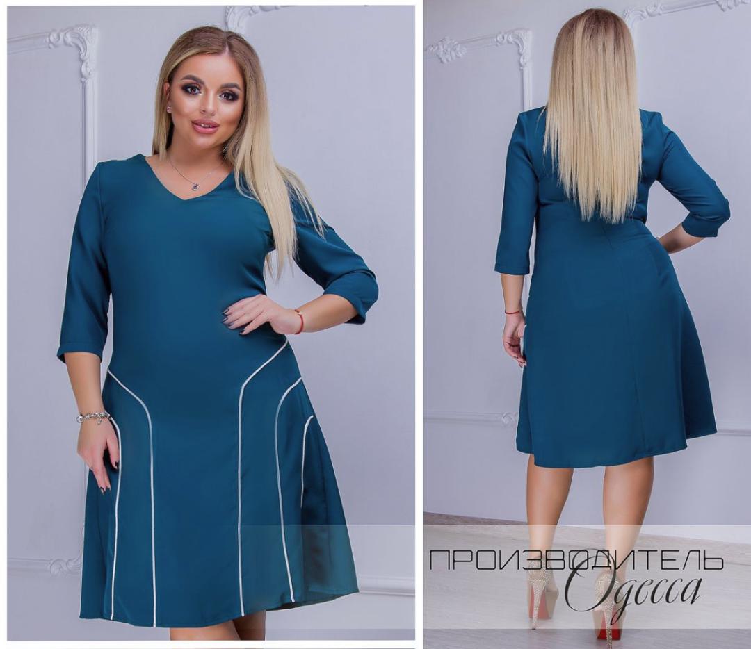 37d2908e7f1 Повседневное платье осень-зима в большом размере недорого в интернет- магазине ( размеры 50-56 )