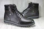 Зимові чоловічі високі черевики натуральна шкіра коричневі, фото 2