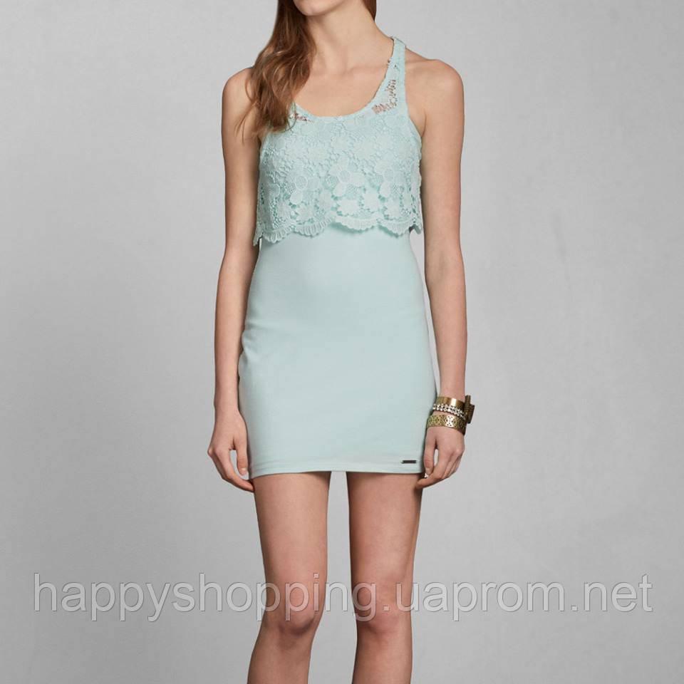 Мятное короткое платье Abercrombie&Fitch