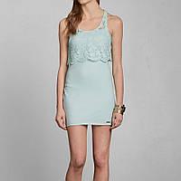 Мятное короткое платье Abercrombie&Fitch, фото 1