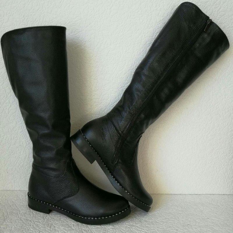 a278c7532d8d3d Зимові жіночі шкіряні чоботи Limoda до коліна, зі змійкою, єврозима -  VZUTA.COM