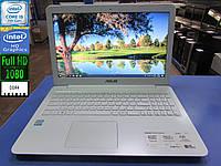 Белый ноутбук Asus R558U - Full-HD/Intel i5-7200U 3.1GHz/DDR4 8GB