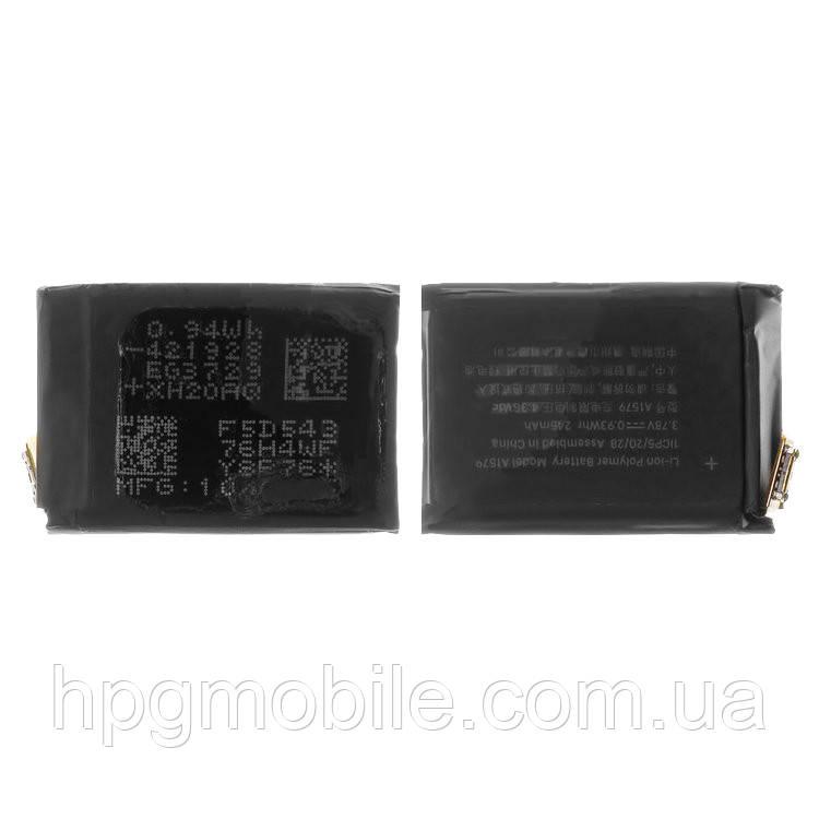 Батарея (акб, аккумулятор) A1579 для Apple Watch 42 mm, Li-Polymer, 3,78 B, 246 мАч, оригинал