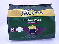 """Кофе в чалдах """" Jacobs Crema Pads Kräftig """" 16 монодоз"""