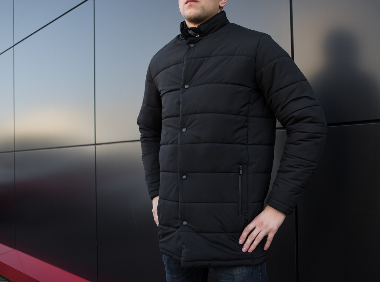 "Мужская зимняя куртка Pobedov ""Кorol' vechera"" Black"