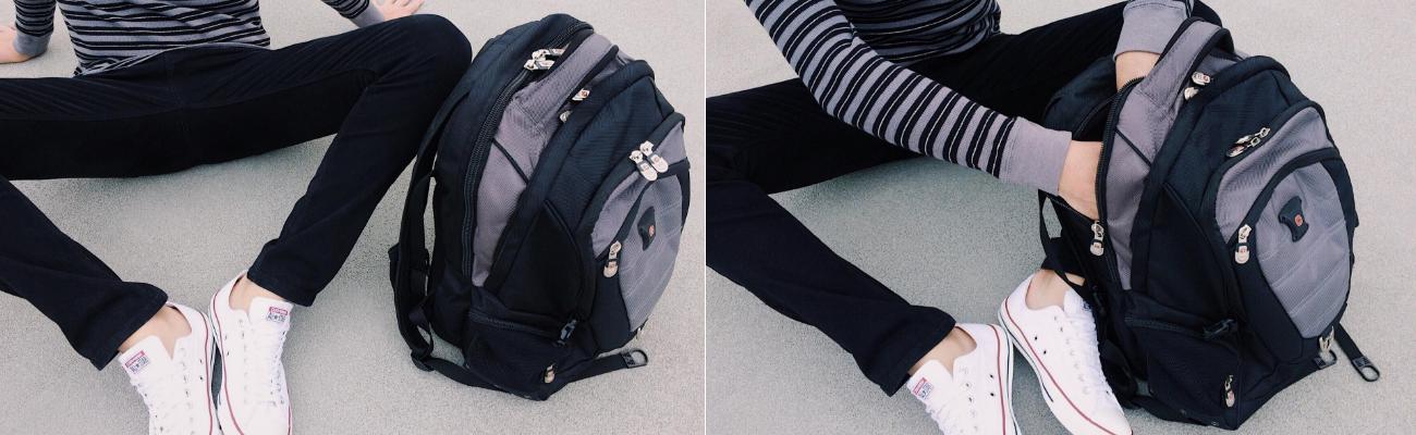 2b011ba73743 Вместительный рюкзак SwissGear Wenger, свисгир. Черный с серым. + ...