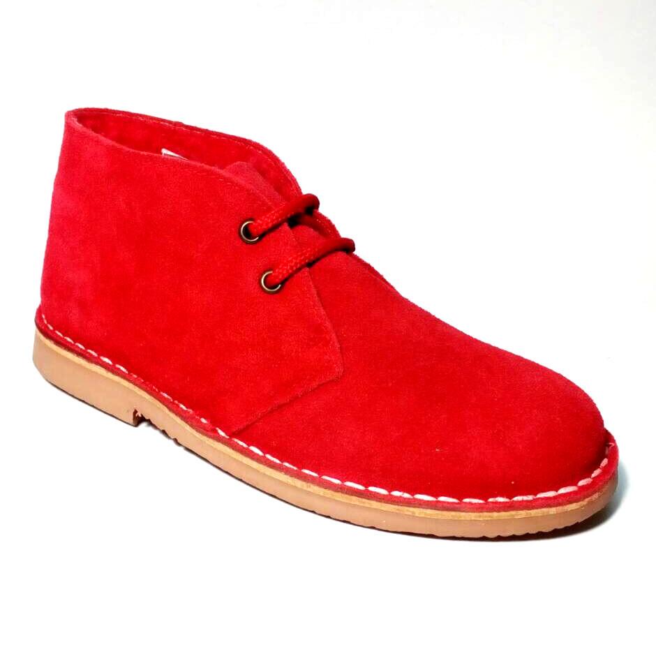 09a6bea47 Женские замшевые ботинки дезерты зима красные - СУМКИ, ОБУВЬ И АКСЕССУАРЫ  ИЗ НАТУРАЛЬНОЙ КОЖИ ОТ