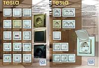 Серия выключателей и розеток «Tesla»