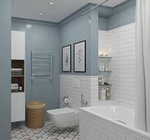Принадлежности для ванной комнаты и туалета.