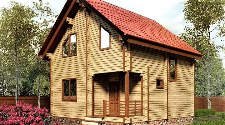 Дом из профилированного клееного бруса 7×7 м