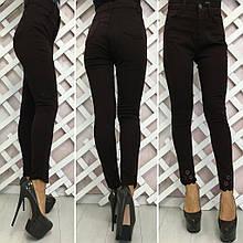 Жіночі джинси АМЕРИКАНКА із завищеною талією і вышикой(р. 42,44,46,48) 3расцв.