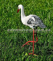 Садовая фигура Стерх малый на металлических лапах, фото 3
