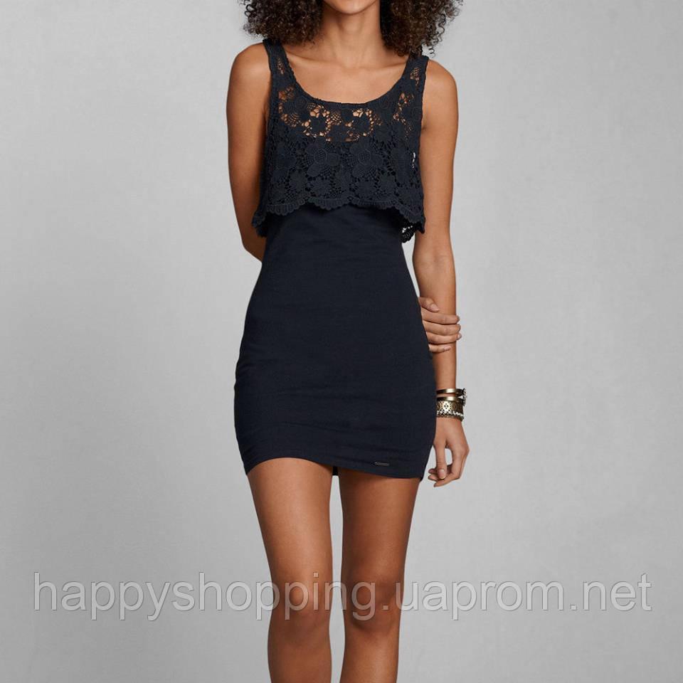 Темно-синее короткое платье Abercrombie&Fitch