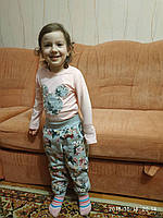 Костюм трикотажный утепленный 3-10 лет Цветы, фото 1